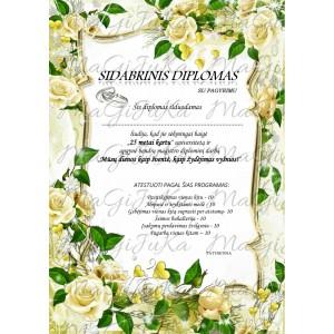 Sidabrinių vestuvių diplomas