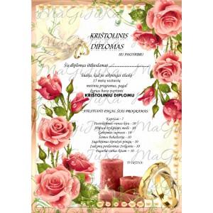 """Krištolinių vestuvių diplomas """"3"""""""