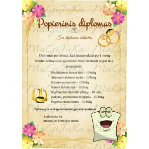 """Popierinių vestuvių diplomas """"4"""""""