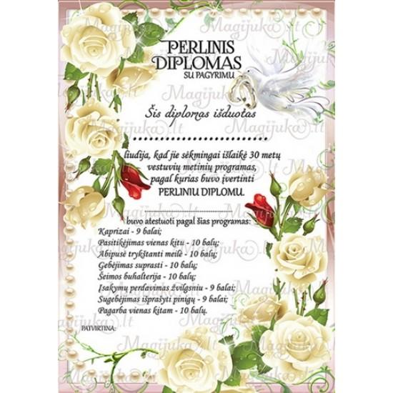 Perlinių vestuvių diplomas