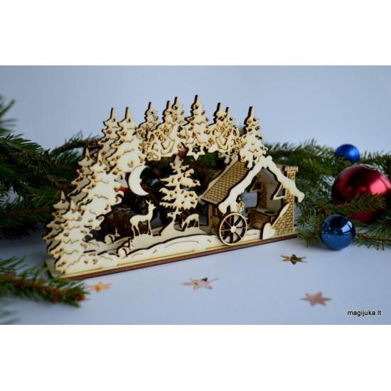 "3D Kalėdinė dekoracija ""Miškas"""