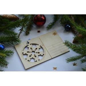 Kalėdinis atvirukas su žaisliuku