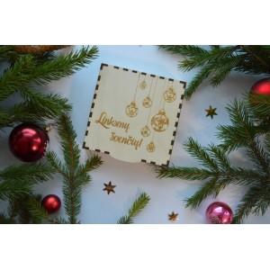 """Dėžutė kalėdinėms dovanoms """"Žaisliukai"""""""