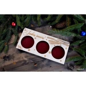 """Dėžutė 3 vnt. Kalėdiniams žaisliukams """"Dovana"""""""