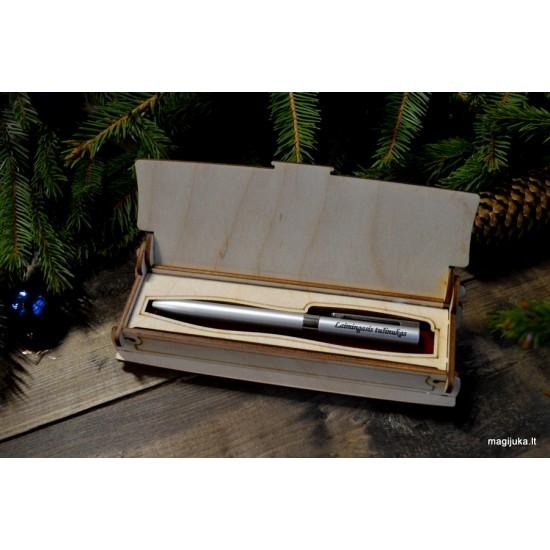 """Dėžutė rašikliui """"Linksmų švenčių"""""""