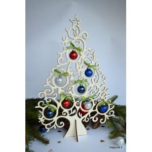 """Kalėdinė dekoracija """"Žaisliukų eglutė"""""""