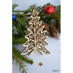 """Kalėdinė dekoracija """"Eglutė"""" kiauraraštė"""
