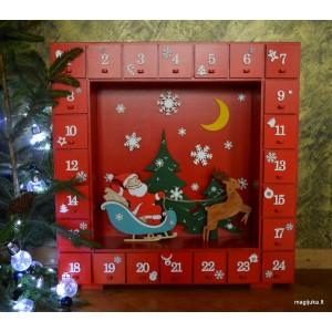 """Advento kalendoriaus komoda """"Kalėdų Senelis"""""""