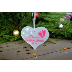 """Kalėdinis pirmasis žaisliukas """"Širdelė"""""""