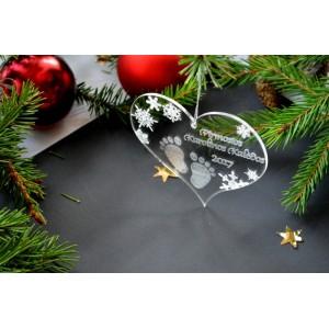 """Pirmųjų kalėdų žaisliukas """"Širdelė"""""""