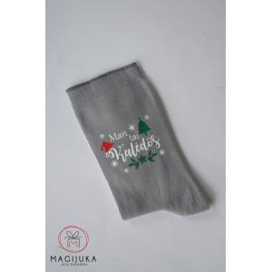 """Moteriškos kojinės """"Man tai Kalėdos"""""""