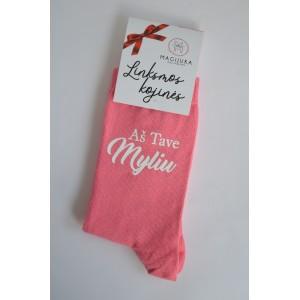 """Moteriškos kojinės """"Aš tave myliu"""""""