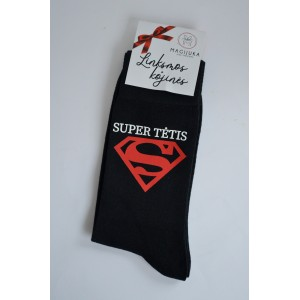 """Vyriškos kojinės """"Super tėtis"""""""