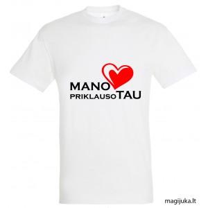 """Marškinėliai """"Mano širdis priklauso tau"""""""