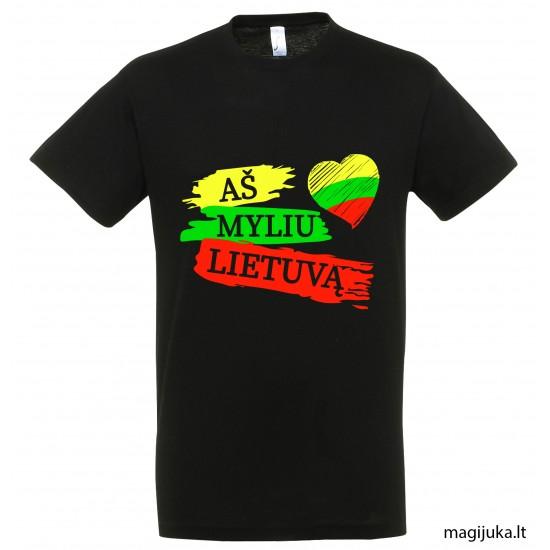 """Marškinėliai """"Aš myliu Lietuvą"""""""