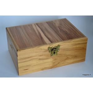 Ąžuolinė dėžutė su egzotinio medžio dangteliu