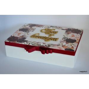 """Elegantiška dėžutė """"Gėlės"""""""