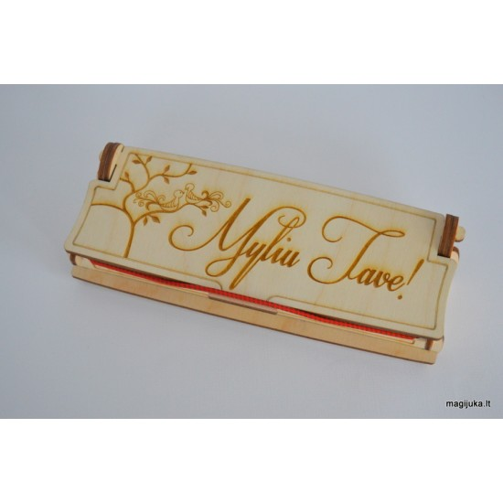 """Dėžutė rašikliui """"Myliu tave"""""""