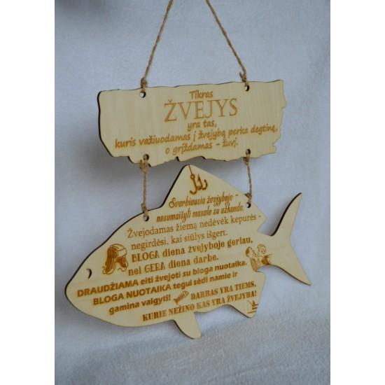 Medinė žvejo lentelė