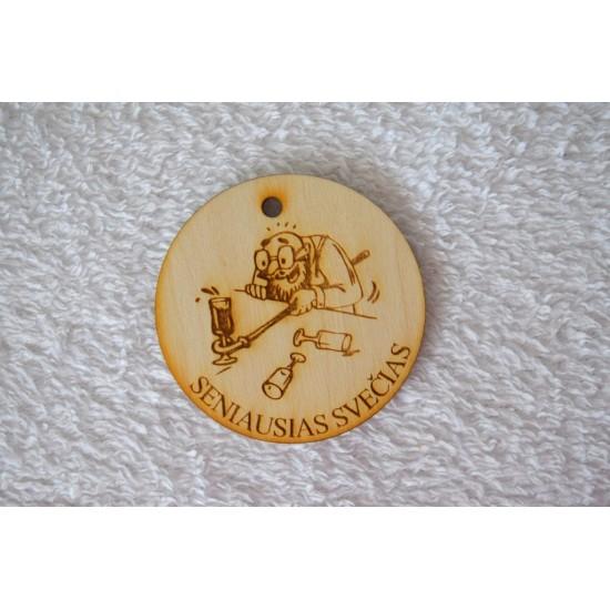 """Medalis """"Seniausias svečias"""""""