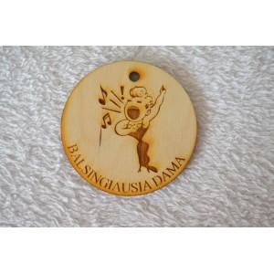 """Medalis """"Balsingiausia dama"""""""