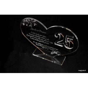 Sveikinimas 25 sidabrinių vestuvių proga