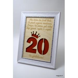 20 gimtadienio sveikinimas