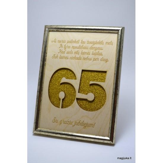 65 gimtadienio sveikinimas