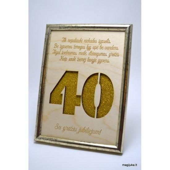40 gimtadienio sveikinimas