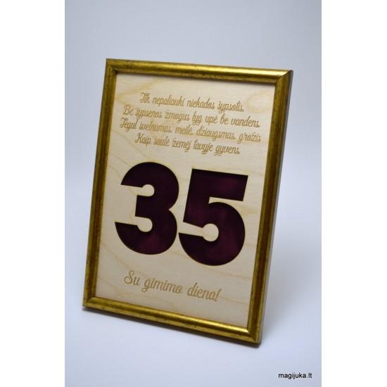 35 gimtadienio sveikinimas