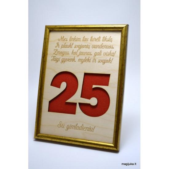 25 gimtadienio sveikinimas