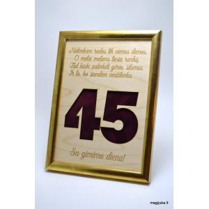 45 gimtadienio sveikinimas