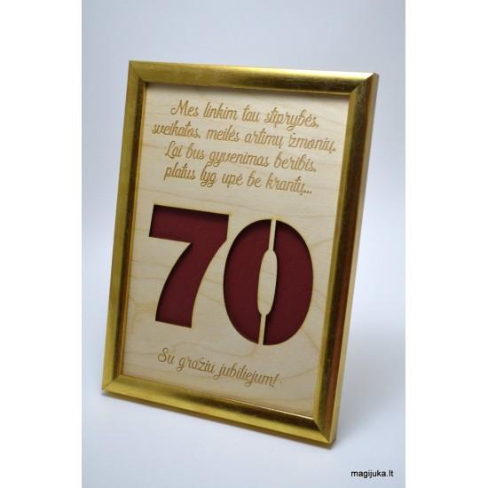 70 gimtadienio sveikinimas