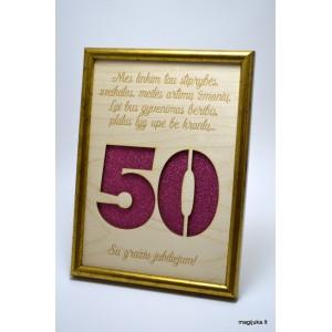 50 gimtadienio sveikinimas