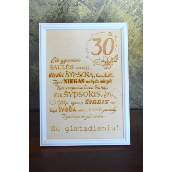 Medinis sveikinimas 30 gimtadienio proga
