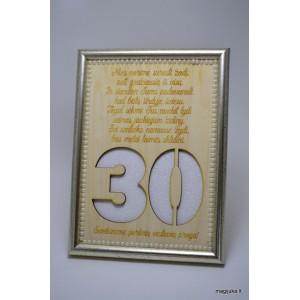 Sveikinimas 30 perlinių vestuvių proga