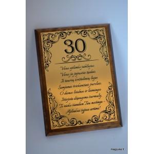"""30-tojo gimtadienio sveikinimas """"Auksinis 30"""""""