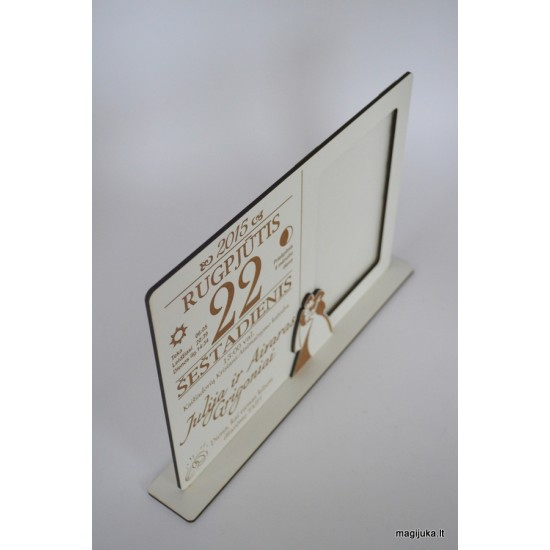 Vestuvių dienos rėmelis - kalendoriaus lapelis
