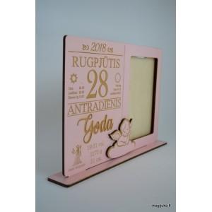 """Rožinis rėmelis """"Kalendoriaus lapelis"""""""