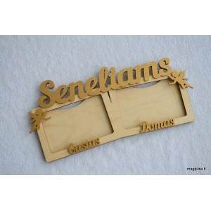 """Nuotraukų rėmelis """"Seneliams"""" su vardais"""