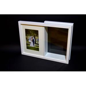 Dėžutė smėlio ceremonijai su nuotrauka