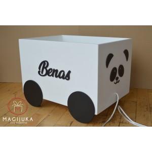"""Medinė žaislų dėžė """"Panda"""""""