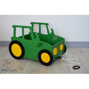 """Medinė žaislų dėžė """"Traktorius"""""""