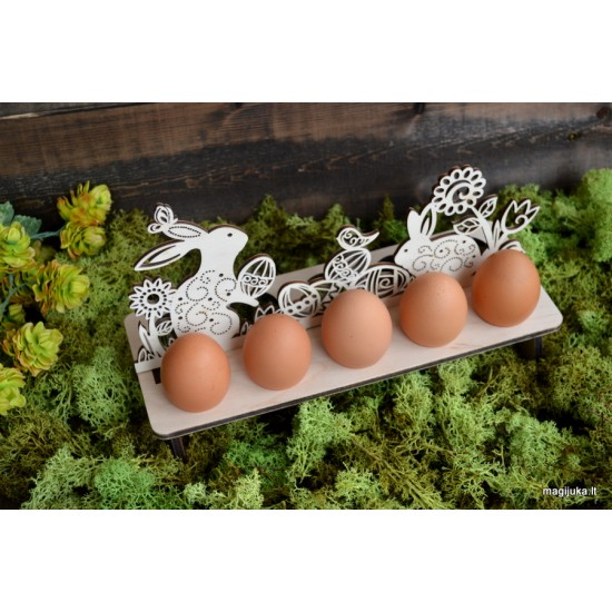 """""""Kiškučiai"""" dekoracija 10 kiaušinių"""