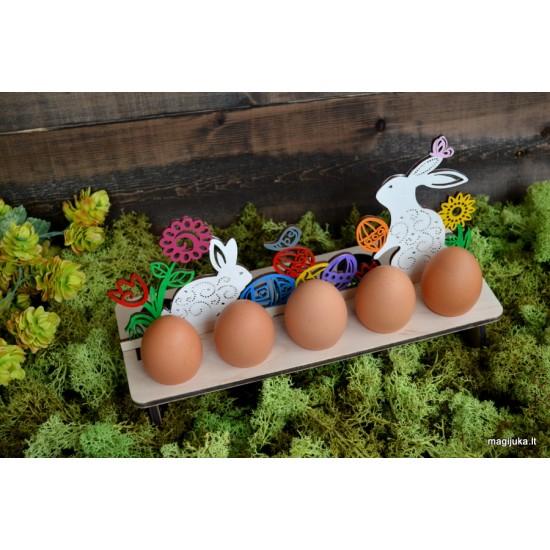 """""""Margi kiškučiai"""" dekoracija 10 kiaušinių"""