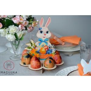 """""""Kiškutis"""" dekoracija 8 kiaušiniams laikyti"""