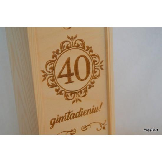 "Vyno dėžė ""40 jubiliejaus proga"""