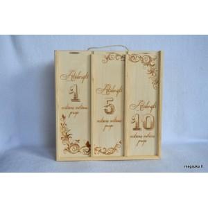 """Triguba vyno dėžė """"Vestuvių metinėms"""""""