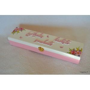 """Dėžutė krikšto žvakei """"Gėlytės"""""""