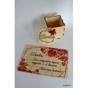 Spalvotas kvietimas - dėlionė dėžutėje